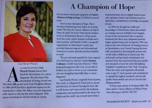 Lisa Pecaro, A Champion of Hope